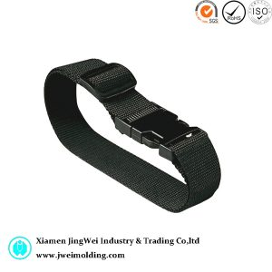 Black Colored Luggage Strap with Plastic Buckle