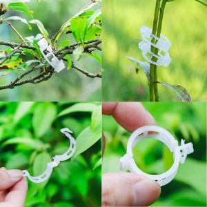 Tomato Plant Clips Support Garden Clips Clamps for Vine Vegetables