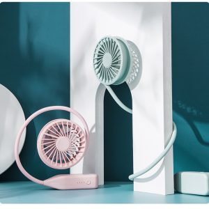 USB rechargeable neck fan