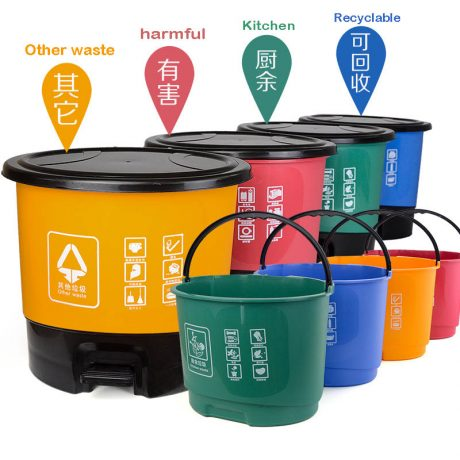 plastic trash can for garbage classification